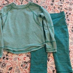 LL Bean kids activewear set
